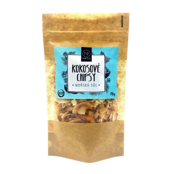 Kokosove chipsy BIO morska sul vegfit