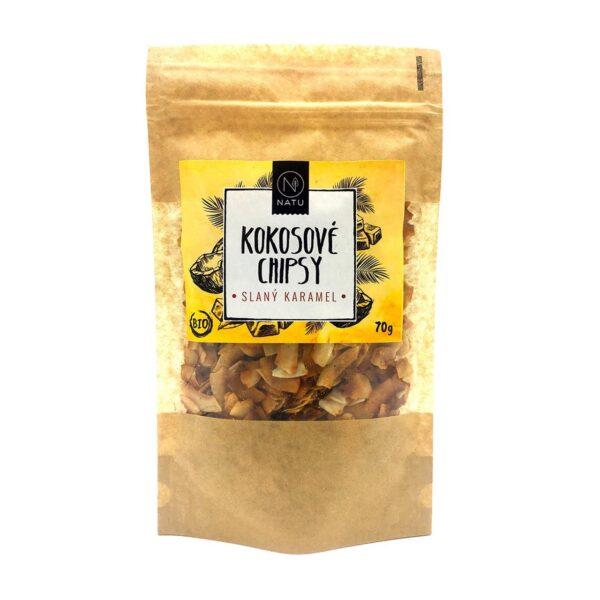 Kokosove chipsy BIO slany karamel vegfit