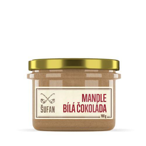 Mandle Bila cokolada prazene melnene vegfit