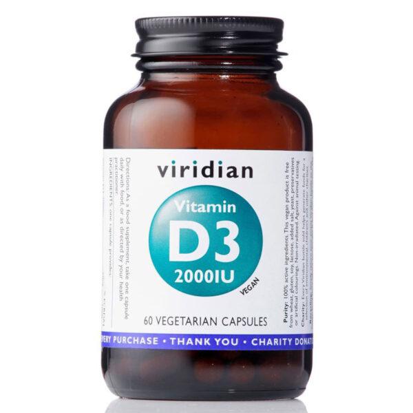 Vitamin D3 2000iu 60kapsli vegfit