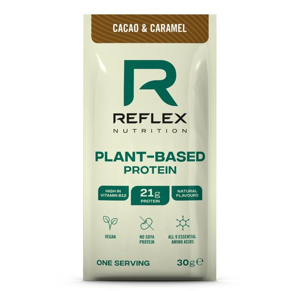 plant based protein 30g cacao caramel vegfit