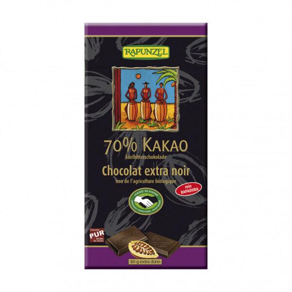 cokolada horka 70 rapunzel bio 80 g vegfit