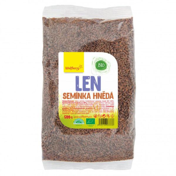 lnene seminko hnede wolfberry bio 500 g vegfit