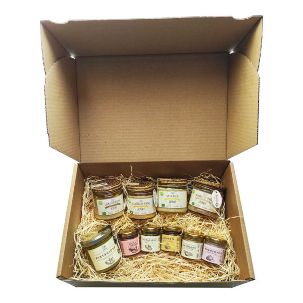 darkovy balicek 7 pro milovniky orechovych masel vegfit