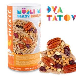 Pečenný mixit: slaný karamel a ořechy 470 g dva tátové